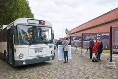 Heilige-Petersburg Rusland Retro Bussententoonstelling Royalty-vrije Stock Afbeeldingen