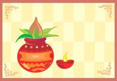 Heilige pot met een goddelijke lamp Stock Afbeeldingen