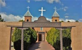 Heilige quere katholische Kirche im New Mexiko Lizenzfreie Stockbilder