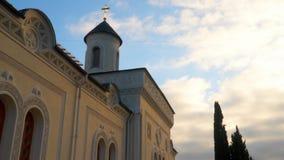 Heilige Querkirche in Livadia stock video footage