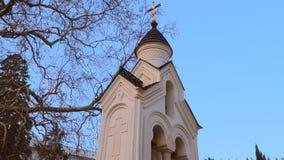 Heilige Querkirche in Livadia Poggioreale ruiniert Tür im Balkon stock footage