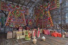 Heilige Roben chinesischen hungrigen Geist-Yu Lan-Festivals Lizenzfreie Stockfotografie