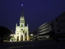 Heilige Rosenbeet-Kirche, auch genannt Kalawar Kirche, in Bangkok Thail Stockfotos