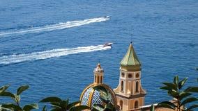 Heilige snelheid aan Positano stock afbeeldingen