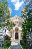 Heilige Spyridon de Nieuwe Kerk in Boekarest, Roemenië Stock Afbeeldingen