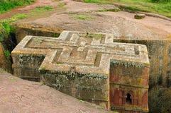 Heilige Stätte Lalibela in Äthiopien lizenzfreie stockfotografie