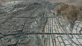 Heilige stad van Makkah en de heilige plaatsen bij regen vector illustratie