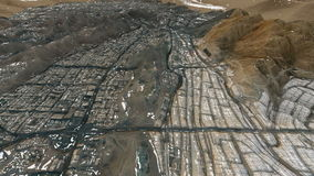 Heilige stad van Makkah en de heilige plaatsen bij sneeuw royalty-vrije illustratie