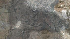 Heilige stad van Makkah en het Arabische Schiereiland stock illustratie