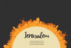 Heilige Stadt, Mittlere Osten-Stadt, Jerusalem stock abbildung
