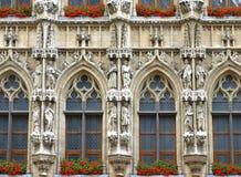 Heilige standbeelden van de Plaats van Brussel de Grote Royalty-vrije Stock Foto's