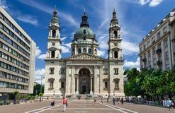 Heilige Stephen Basilica in Boedapest, Hongarije royalty-vrije stock foto's