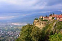 Heilige Stephen Holy Monastery, Meteora, Griekenland Stock Foto's