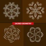 Heilige Symbole und Geometrie für Tätowierung Lizenzfreies Stockbild