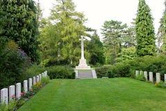 Heilige-Symphorien Begraafplaats, België royalty-vrije stock afbeeldingen