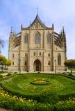 Heilige tempel Barbara Chram Svate Barbory, Kutna Hora, Tsjechische Republiek stock afbeeldingen