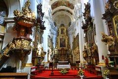 Heilige Thomas Church (Tsjech: Kostelsvatã©ho Tomà ¡ Å ¡ e) is een kerk Van Augustinus in Malà ¡ Strana, Praag, Tsjechische Repub Stock Foto's