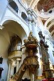 Heilige Thomas Church (Tsjech: Kostelsvatã©ho Tomà ¡ Å ¡ e) is een kerk Van Augustinus in Malà ¡ Strana, Praag, Tsjechische Repub Stock Afbeeldingen