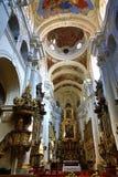 Heilige Thomas Church (Tsjech: Kostelsvatã©ho Tomà ¡ Å ¡ e) is een kerk Van Augustinus in Malà ¡ Strana, Praag, Tsjechische Repub Royalty-vrije Stock Afbeelding