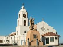 Heilige Thomas Indian Mission, Yuma, Arizona stock afbeelding