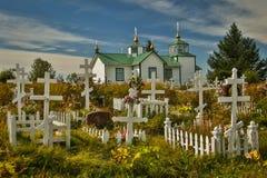 Heilige Transfiguratie van Ons Lord Chapel, dichtbij Kenai in Alaska royalty-vrije stock foto