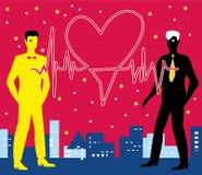 Heilige Valentine Gay Heartbeat Stock Afbeelding