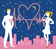 Heilige Valentine Heartbeat Royalty-vrije Stock Fotografie