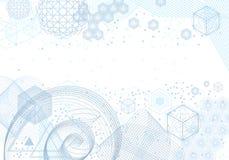 Heilige van meetkundesymbolen en elementen achtergrond Stock Foto