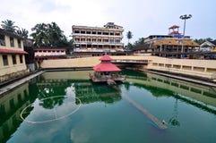 Heilige vijver bij Hindoese tempel stock foto's