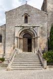 Heilige Vincent Church, Middeleeuws dorp van Les Baux DE de Provence, stock foto's