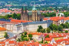 Heilige Vitus Cathedral in Praag, Tsjechische Republiek Royalty-vrije Stock Foto