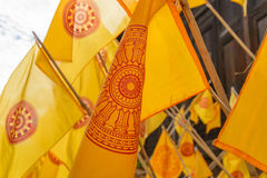 Heilige vlag van boeddhisme Stock Fotografie