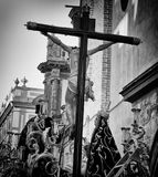 Heilige week - semanasanta - zwart-witte foto Royalty-vrije Stock Foto