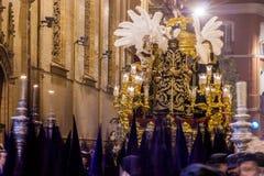 Heilige Week in Sevilla, Christus van het Oordeel Royalty-vrije Stock Foto