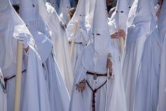 Heilige Week in Sevilla Nazarenes Royalty-vrije Stock Afbeelding