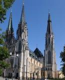 Heilige Wenceslas Cathedral Olomouc, Tsjechische Republiek Stock Foto's