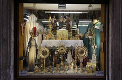Heilige winkel` s shopwindow Royalty-vrije Stock Fotografie