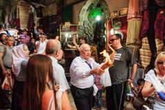 Heilige Zaterdag in Jeruzalem Stock Fotografie