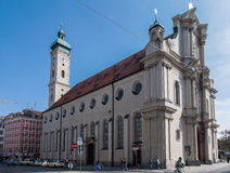 Heiligeistkirche Church Munich Germany Stock Photos