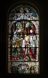 Heiligem Aloysius wird seine erste Kommunion vom Heiligen Charles Borromeo gegeben stockfotos