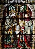 Heiligem Aloysius wird seine erste Kommunion vom Heiligen Charles Borromeo gegeben stockfoto