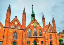 Heiligen-Geist-Hospital in Lubeck, Schleswig-Holstein, Germany Royalty Free Stock Image