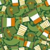 Heiligen Patrick nahtloses Muster Tagesdes grüns Stockfotografie