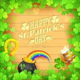 Heiligen Patricks Tageshintergrund Stockbilder