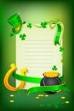 Heiligen Patricks Tageskarte lizenzfreie abbildung