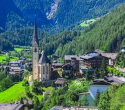 Heiligenblut church in Austria. Stock Image