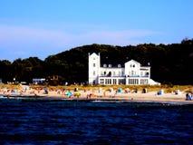 Heiligendamm sea bath at Baltic sea in Germany. Heiligendamm sea bath at Baltic sea with beach in Germany Stock Photo