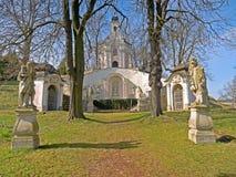 Heiligenkreuz - estaciones de la cruz Fotos de archivo