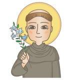 Heiliger Anthony von Padua lizenzfreie abbildung