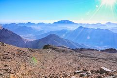 Heiliger Berg Sinai Stockfoto